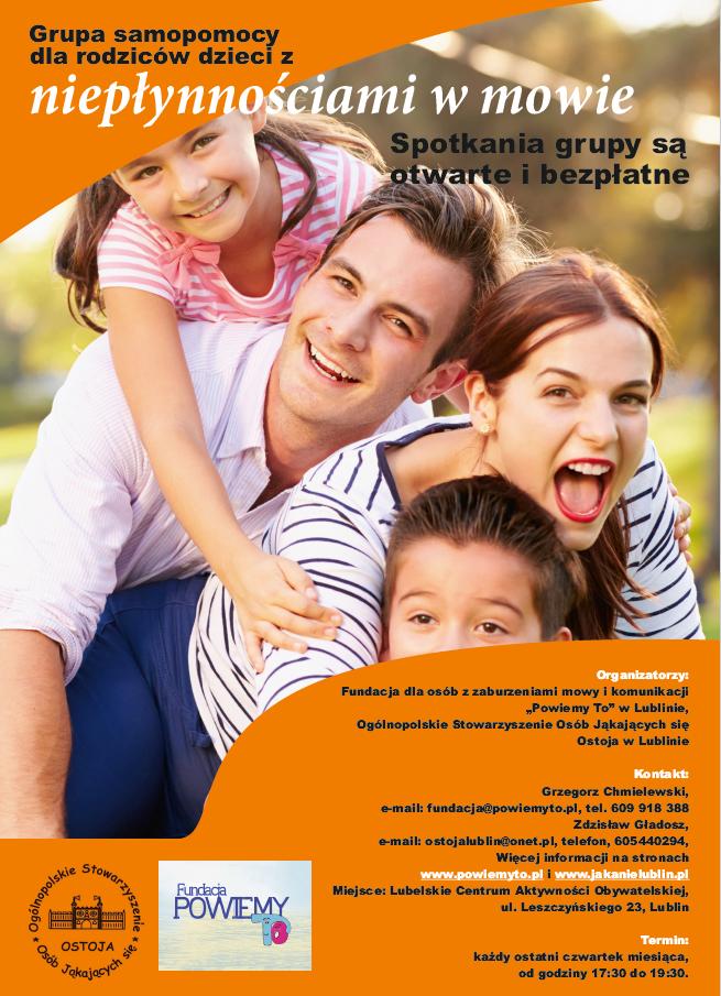 Grupa samopomocy dla rodziców dzieci z niepłynnością w mowie